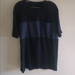 Zara Men's Medium Navy T Shirt